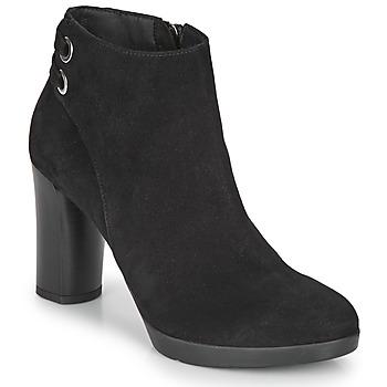 kengät Naiset Nilkkurit Geox ANYLLA HIGH Black
