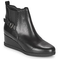 kengät Naiset Nilkkurit Geox ANYLLA WEDGE Black
