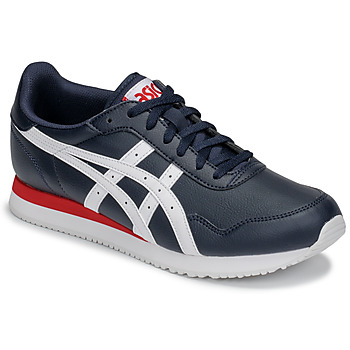 kengät Miehet Matalavartiset tennarit Asics TIGER RUNNER Blue / White / Red