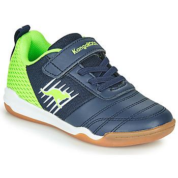 kengät Pojat Matalavartiset tennarit Kangaroos SUPER COURT EV Blue / Green