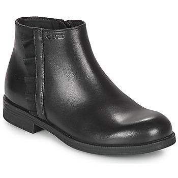 kengät Tytöt Bootsit Geox AGGATA Musta