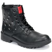 kengät Tytöt Bootsit Geox CASEY Black