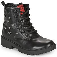 kengät Tytöt Bootsit Geox CASEY Musta