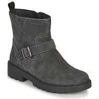 kengät Tytöt Bootsit Geox CASEY WPF Harmaa