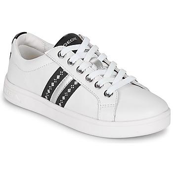 kengät Tytöt Matalavartiset tennarit Geox DJROCK White
