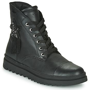 kengät Tytöt Bootsit Geox GILLYJAW Musta
