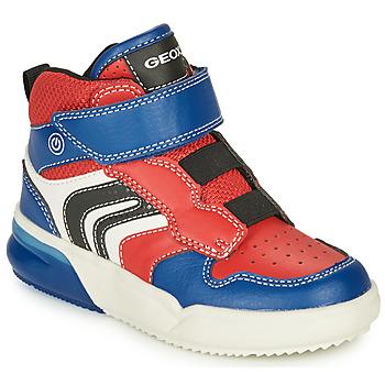 kengät Pojat Matalavartiset tennarit Geox GRAYJAY Red / Blue