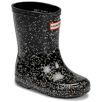 kengät Tytöt Kumisaappaat Hunter KIDS FIRST CLASSIC GLITTER Black
