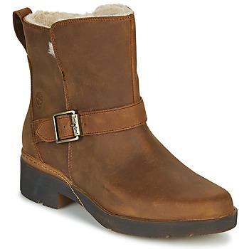 kengät Naiset Bootsit Timberland GRACEYN BIKER WP Brown