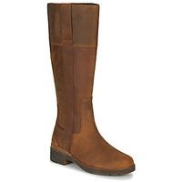 kengät Naiset Saappaat Timberland GRACEYNTALLSIDEZIPWP Brown