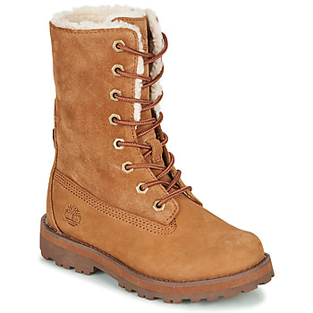 kengät Lapset Bootsit Timberland COURMA KID SHRL RT Brown