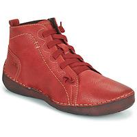 kengät Naiset Korkeavartiset tennarit Josef Seibel FERGEY 86 Red