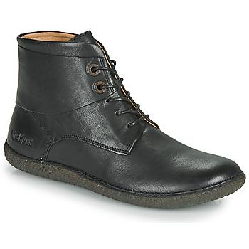 kengät Naiset Bootsit Kickers HOBBYTWO Musta
