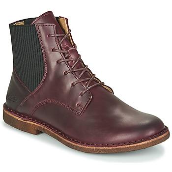 kengät Naiset Bootsit Kickers TITI Viininpunainen