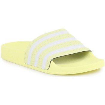 kengät Naiset Rantasandaalit adidas Originals Adilette W Valkoiset, Keltaiset