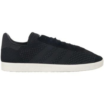 kengät Miehet Matalavartiset tennarit adidas Originals Gazelle Primeknit Mustat