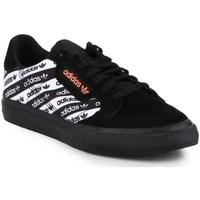kengät Miehet Matalavartiset tennarit adidas Originals Continental Vulc Valkoiset, Mustat