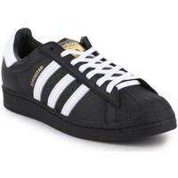 kengät Miehet Matalavartiset tennarit adidas Originals Superstar Mustat