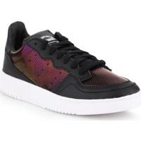 kengät Naiset Matalavartiset tennarit adidas Originals Supercourt W Tummanpunainen,Mustat