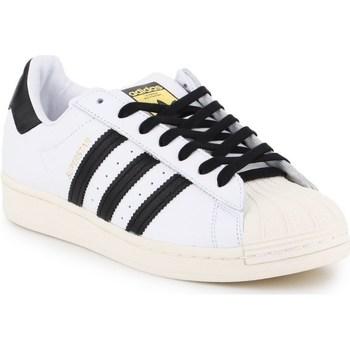 kengät Miehet Matalavartiset tennarit adidas Originals Superstar Laceless Valkoiset, Mustat