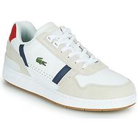 kengät Miehet Matalavartiset tennarit Lacoste T-CLIP 0120 2 SMA White / Laivastonsininen / Red
