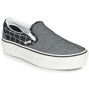 kengät Naiset Tennarit Vans CLASSIC SLIP-ON PLATFORM Harmaa