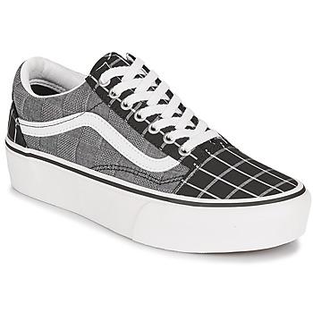 kengät Naiset Matalavartiset tennarit Vans OLD SKOOL PLATFORM Grey