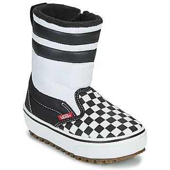 kengät Lapset Talvisaappaat Vans YT SLIP-ON SNOW BOOT MTE Black / White
