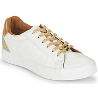 kengät Naiset Matalavartiset tennarit Le Temps des Cerises VIC White / Kulta