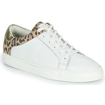 kengät Naiset Matalavartiset tennarit Les Tropéziennes par M Belarbi LOUANE Valkoinen / Leopardi