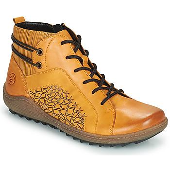 kengät Naiset Korkeavartiset tennarit Remonte Dorndorf R1499-68 Yellow