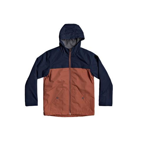 vaatteet Pojat Pusakka Quiksilver WAITING PERIOD Laivastonsininen / Brown