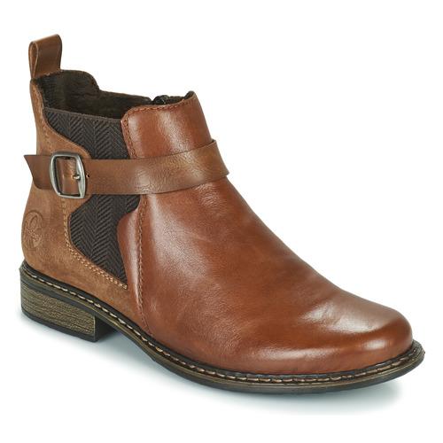 kengät Naiset Nilkkurit Rieker Z49A9-24 Kamelinruskea