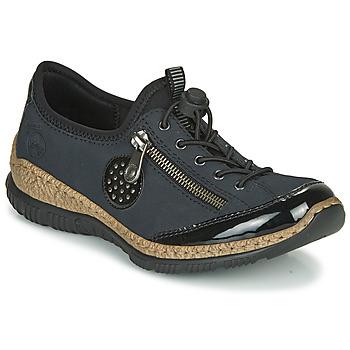 kengät Naiset Derby-kengät Rieker N3268-01 Sininen / Musta