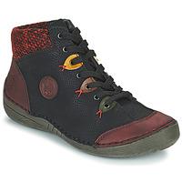 kengät Naiset Bootsit Rieker  Black / Bordeaux