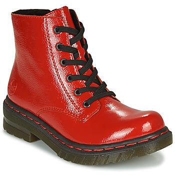 kengät Naiset Bootsit Rieker 76240-33 Punainen