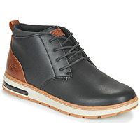 kengät Miehet Korkeavartiset tennarit Skechers EVENSTON Black / Brown