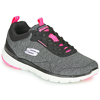 kengät Naiset Fitness / Training Skechers FLEX APPEAL 3.0 Grey / Black / Pink