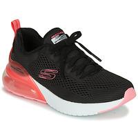 kengät Naiset Matalavartiset tennarit Skechers SKECH-AIR Musta / Vaaleanpunainen