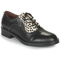 kengät Naiset Derby-kengät Café Noir JEREL Musta / Valkoinen