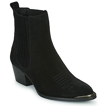 kengät Naiset Nilkkurit Ikks TIAG SUEDE Musta