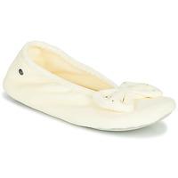 kengät Naiset Tossut Isotoner 95991 Ivory