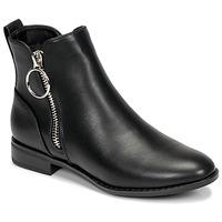 kengät Naiset Bootsit Only BOBBY 22 PU ZIP BOOT Musta