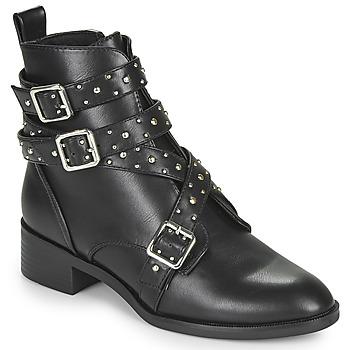 kengät Naiset Bootsit Only BRIGHT 14 PU STUD BOOT Musta