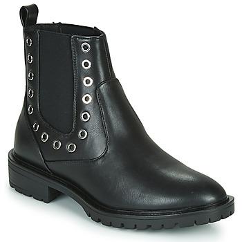 kengät Naiset Bootsit Only ONLTINA 3 PU BOOT Musta