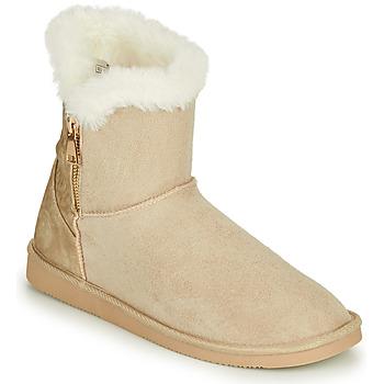 kengät Naiset Bootsit Only BREEZE 1 ZIP BOOT Beige