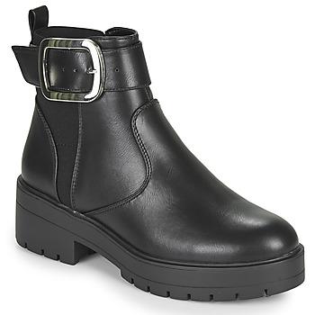 kengät Naiset Bootsit Only BRANKA-5 PU BUCKLE BOOT Musta