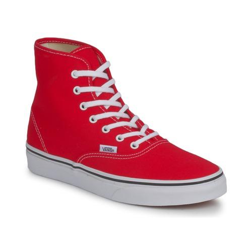 kengät Naiset Korkeavartiset tennarit Vans AUTHENTIC HI Red