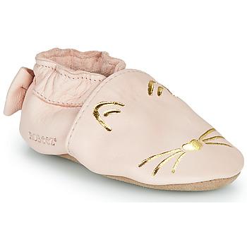 kengät Tytöt Tossut Robeez GOLDY CAT Pink / Kulta