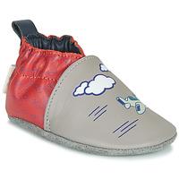 kengät Pojat Tossut Robeez HAPPY WOLF Grey / Red